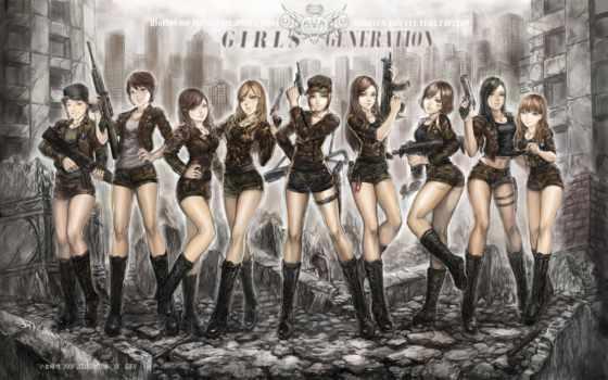 girls, поколение, anime
