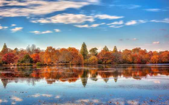 осень, park, подборка, красивые, листва, телефон, обойный, озеро, trees,