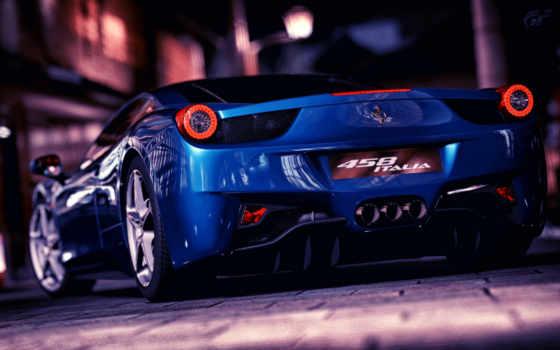 ferrari, italia, blue, город, value, машины, cars,
