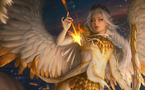 art, angel, fantasy, девушка, game, artist, inawong