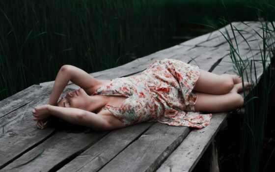 urban, доска, платье, спать, девушка, wood, car, leg, осень, leaf