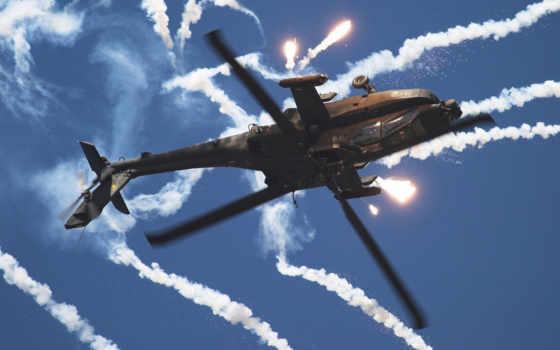 вертолет, перевернутый, воздухе, ловушки, тепловые, дым, поделиться, вернуться, изображения, military, авиация,