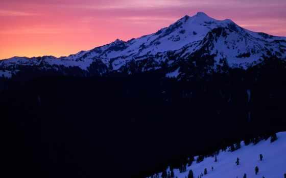 закат, peak, glacier