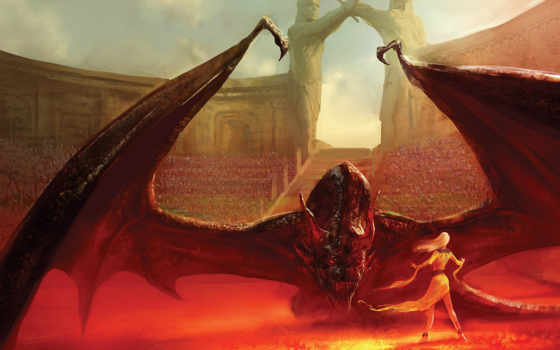 престолов, game, драконов