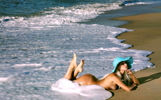 sexy, девушка, blonde, обнаженная, гламур, эротика, пляж,