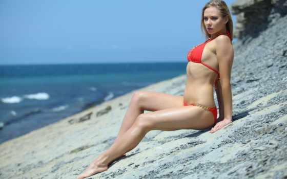пляж, femjoy, эро, баллы, blonde, красавица, страсть, смотрели, baba, бикини,