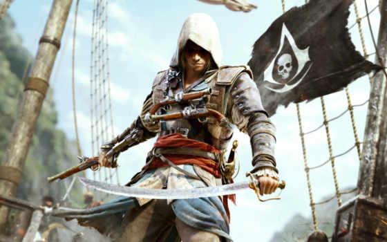 creed, assassin, флаг