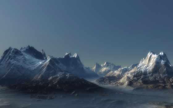 dual, горы, экран