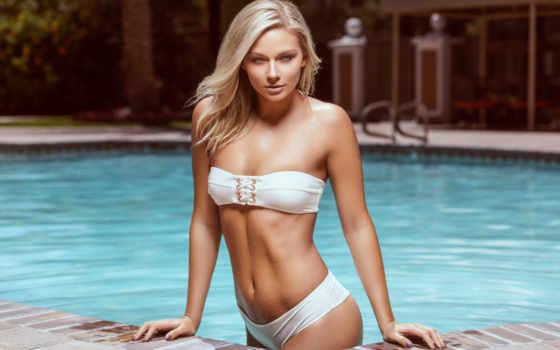 девушка, бикини, blonde, бассейн, картинка, женщина, permission, high