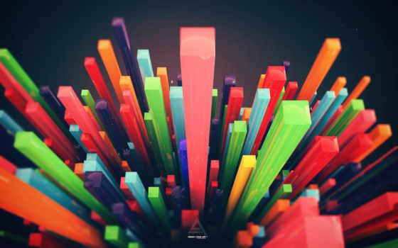 абстракция, дизайн, рендер, картинка, картинку, кнопкой, bars,