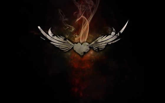 сердце, крылья