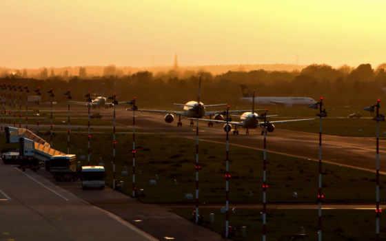 аэропорт, самолеты Фон № 21057 разрешение 1920x1200