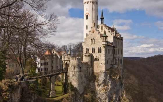 германия, замок, лихтенштейн, munich, lichtenstein,