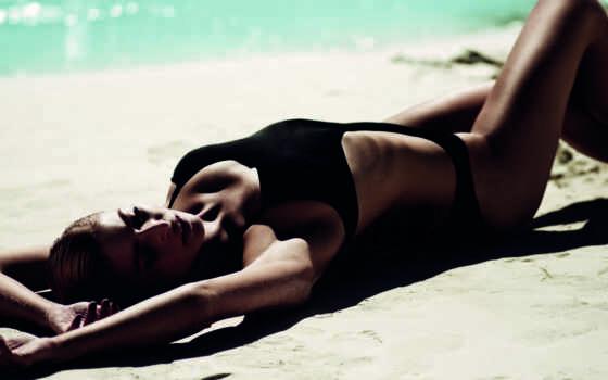 пляж, модель, desktop