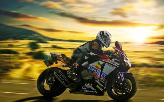 мотоциклы, мотоцикл, honda, скорость, мотоциклами, мотоциклист,