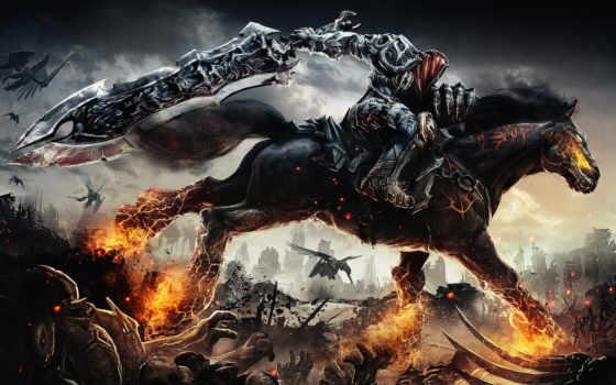 darksiders, game, игры, дарксайдерс, wrath, war, art, всадник,