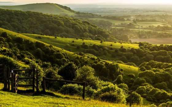 природа, ук, великобритания, landscape, картинку, margin, west, sussex, pyecombe,