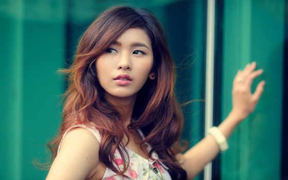 long, волосы, women, japanese, кареглазый, styles, brunette, красивая, лицо, девушка, this,