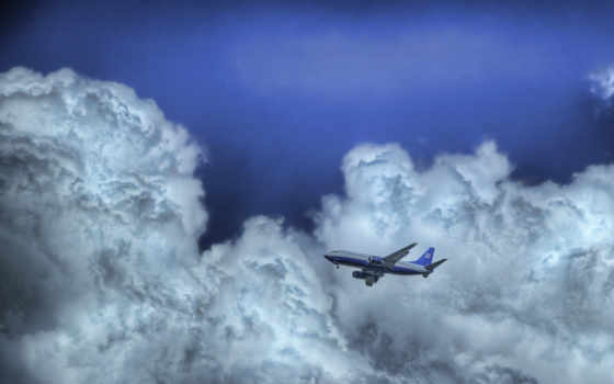 облака, небо, самолёт, image, смотрите, flight, clouds, airplanes, desktop,