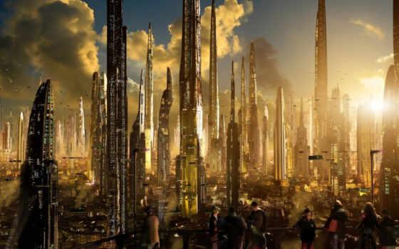 sci, разбогатеть, scott, ричард, город, картинка, matte, будущее, futuristic, planet,