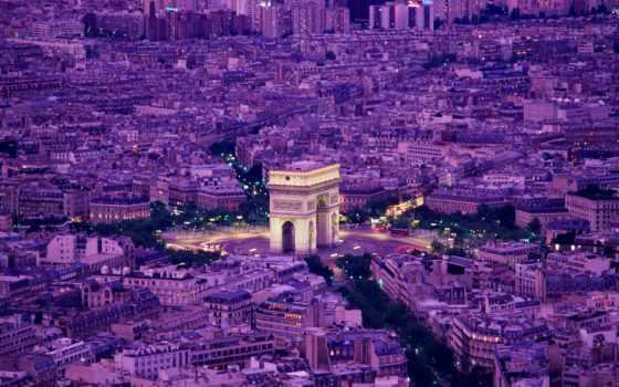 париж, франция, вечер