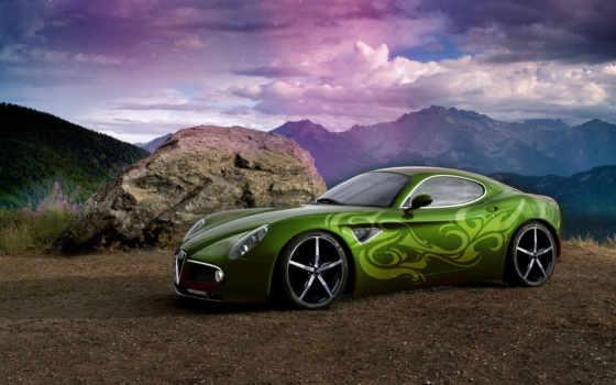 alfa, romeo, тюнинг, dunfermline, дек, зелёная, альфа, автомобили, машины,