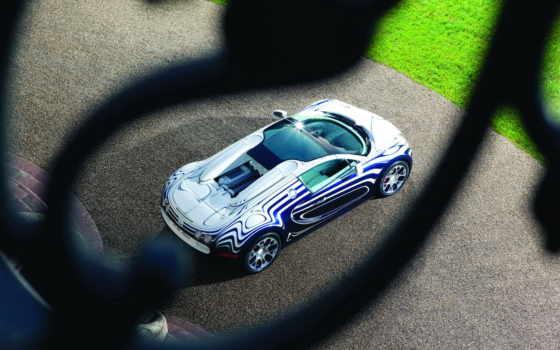 bugatti, veyron, blanc, grand, спорт,