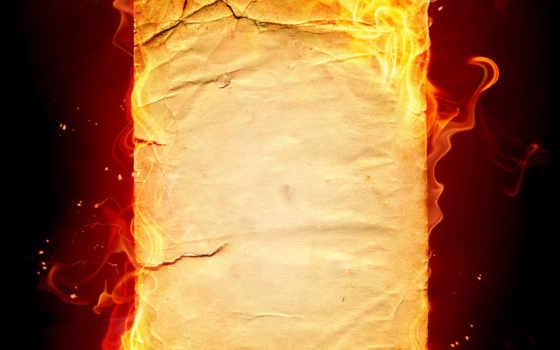 бумаги, старой, лист, шаблон, черный, огонь, картинка,