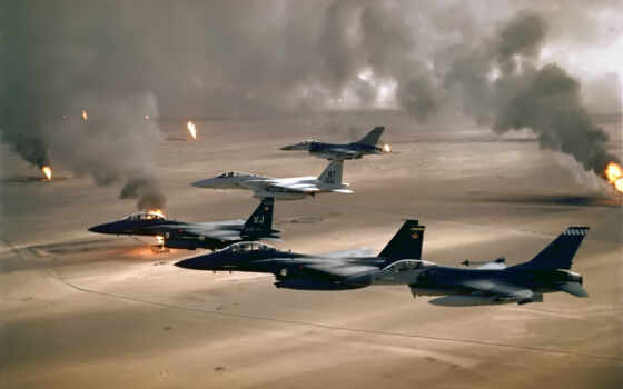 desert, jet, air, fighter, iraq, smoke, fields, free, aircraft, military, combat, storm,