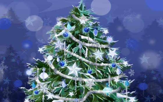 новогодняя, дерево, дек