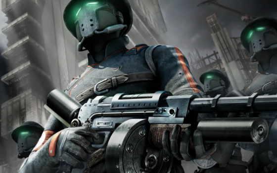 оружие, маски, солдаты