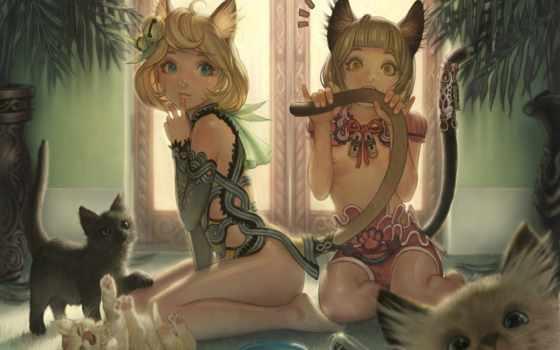 котэ, anime, art, хентай, красивые, прикольные, картинок, деревушки,