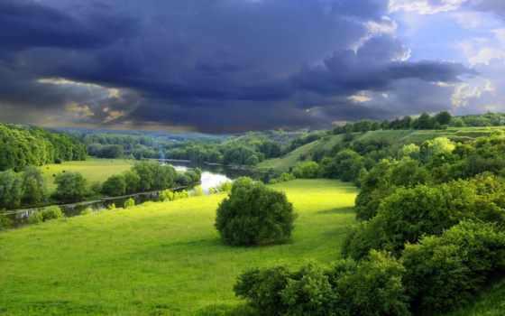 summer, летние, природа, река, trees, зелёный,