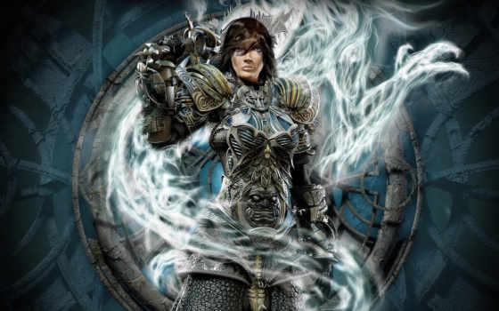 воин, fantasy, девушка, заставки, armour, devushki, лет, soldiers, дракон, gothic, dota,