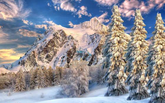 зимние, горы, park, праздничные, winter, пейзажи -, landscape, дек, shuksan, matrioshka, цитата,