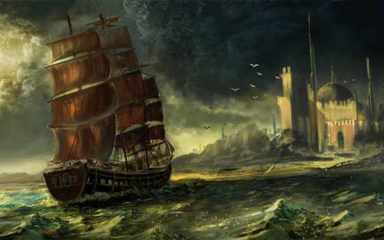 парусник, море