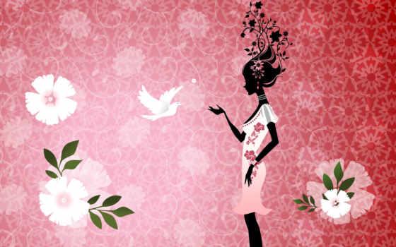 martha, девушка, абстракции