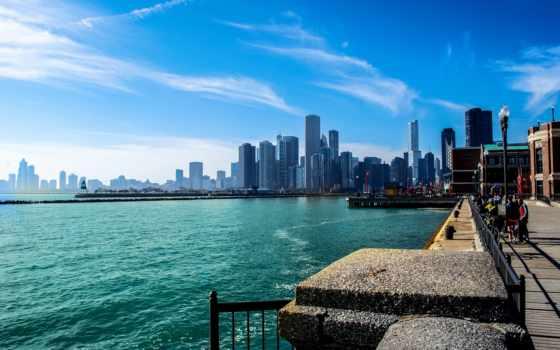 chicago, небоскребы, сша, иллинойс, город, usa, michigan, небоскрёб, американский,