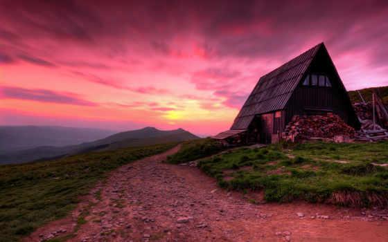 закат, poland, house