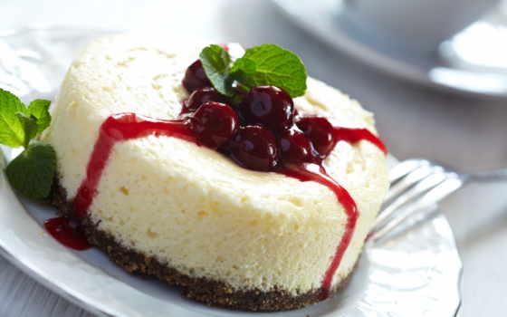 чизкейк, торт, десерт, ягоды, джем, cherry, сладкое,