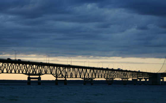 монитора, город, ночь, мосты, мост, free, dual, стена, name,