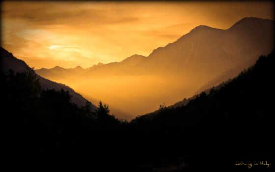гора, рассвет, утро, sun, smartphone, mobile, телефон, beam, ноутбук, preview