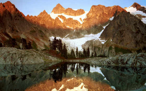 mountains, forest, water, mount, washington, shuksan, , ann, lake, agua, reflejos, free, rboles, monta
