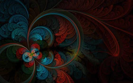 перья, рисунок, абстракция