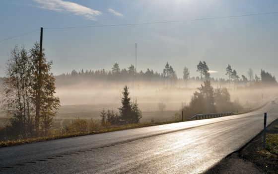 туман, дорога, утро, rota, совершенно, категория,