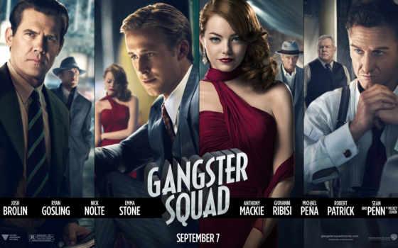 гангстеров, охотники, squad, gangster, сниматься, фильма, ролях, trailer,