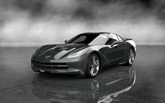 corvette, stingray, chevrolet, black
