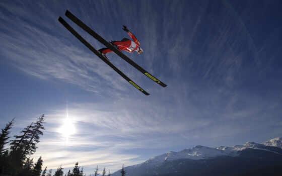 ski, прыжок, трамплин