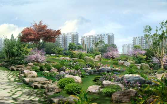 photoshop, китайских, пейзажи -, художников, мастеров, рисунки, природа, человека,
