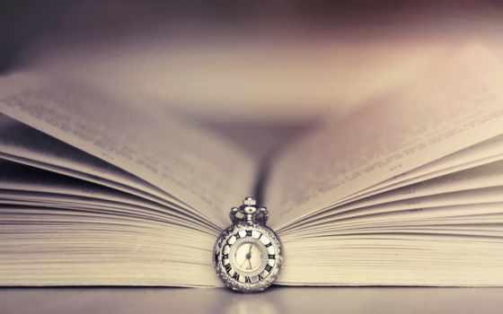 книга, часы, time, широкоформатные, закладка, макро,